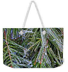 Ice On Pine Needles  Weekender Tote Bag