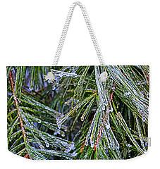 Ice On Pine Needles  Weekender Tote Bag by Daniel Reed