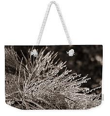 Ice On Pine Weekender Tote Bag