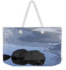 Ice Out At Pumice Point Weekender Tote Bag