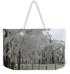 Ice Trees Weekender Tote Bag