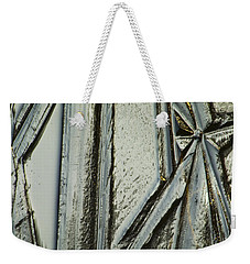 Weekender Tote Bag featuring the photograph Ice by Yulia Kazansky