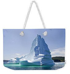 Weekender Tote Bag featuring the photograph Iceberg Canada by Liz Leyden
