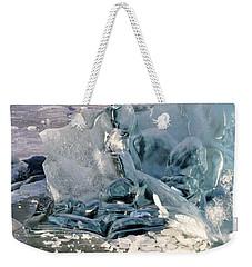 Iceberg Detail Weekender Tote Bag by Cathy Mahnke