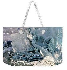Iceberg Detail - Mendenhall Lake Weekender Tote Bag