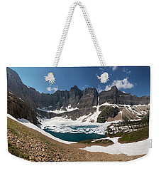 Weekender Tote Bag featuring the photograph Iceberg Lake by Aaron Aldrich