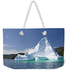 Weekender Tote Bag featuring the photograph Iceberg Newfoundland Canada by Liz Leyden