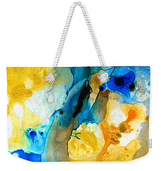 Weekender Tote Bag featuring the painting Iced Lemon Drop - Abstract Art By Sharon Cummings by Sharon Cummings