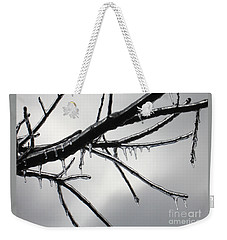 Weekender Tote Bag featuring the photograph Iced Tree by Ann Horn