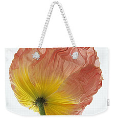Weekender Tote Bag featuring the photograph Iceland Poppy 1 by Susan Rovira