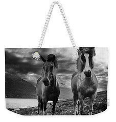 Icelandic Horses Weekender Tote Bag by Frodi Brinks