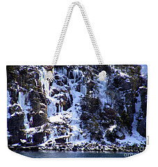 Weekender Tote Bag featuring the photograph Icicle House by Barbara Griffin