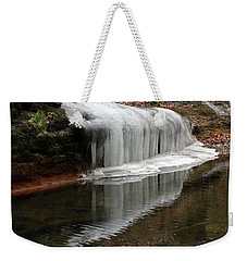 Icicle Reflection  Weekender Tote Bag