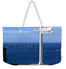 Weekender Tote Bag featuring the photograph Iconic Lands End England by Terri Waters