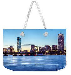 Icy Boston At Dawn Weekender Tote Bag