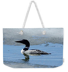 Icy Loon Weekender Tote Bag by Steven Clipperton