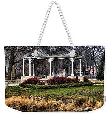 Weekender Tote Bag featuring the photograph Icy Reflection by Deborah Klubertanz