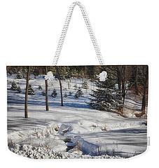 Icy Stream Weekender Tote Bag by Tricia Marchlik