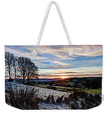 Icy Sunset Weekender Tote Bag by Beverly Cash