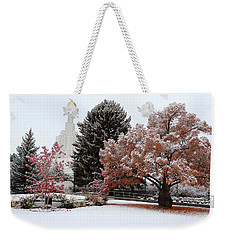 Idaho Falls Temple Winter Weekender Tote Bag