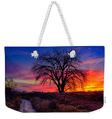 Weekender Tote Bag featuring the photograph Idaho Winter Sunset by Greg Norrell