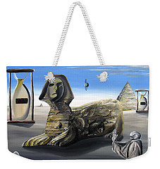 Weekender Tote Bag featuring the painting Idolatary Conformity by Ryan Demaree