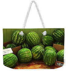 Weekender Tote Bag featuring the photograph If I Had A Watermelon by Patricia Greer