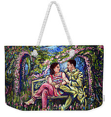 Weekender Tote Bag featuring the painting If I Will Get Your Love by Harsh Malik