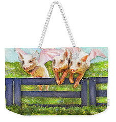 If Pigs Could Fly Weekender Tote Bag by Jane Schnetlage