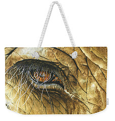 Weekender Tote Bag featuring the painting If You Could See What I've Seen... by Barbara Jewell
