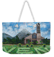 Iglesia La Fortuna  Costa Rica Weekender Tote Bag