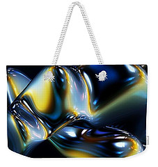 Weekender Tote Bag featuring the digital art Igneous Blue by Greg Moores