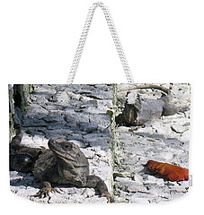 Iguana Bask In The Sun With You Weekender Tote Bag by Patti Whitten