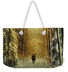 Weekender Tote Bag featuring the painting I'll Be Home For Christmas by Dragica  Micki Fortuna