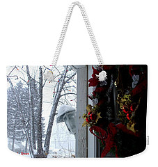 Weekender Tote Bag featuring the photograph I'll Be Home For Christmas by Shana Rowe Jackson