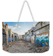 Weekender Tote Bag featuring the photograph Illegal Art Museum by Steven Santamour