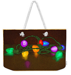 Weekender Tote Bag featuring the drawing Illumination by Meg Shearer
