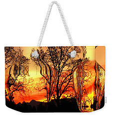Weekender Tote Bag featuring the photograph Illusion by Joyce Dickens