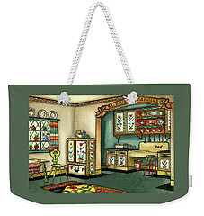 Illustration Of A Colorful Swedish Kitchen Weekender Tote Bag