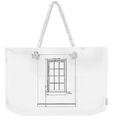 Illustration Of A Window Weekender Tote Bag