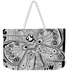 Weekender Tote Bag featuring the digital art Imaginary Lines by Carol Jacobs