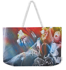 Weekender Tote Bag featuring the painting Imagination 1 by Vesna Martinjak