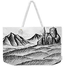 Weekender Tote Bag featuring the painting Imagination by Salman Ravish