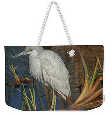 Immature Little Blue Heron Weekender Tote Bag by Jane Luxton