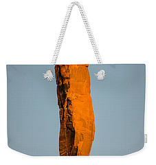 Weekender Tote Bag featuring the photograph iMoon by Jeff Kolker