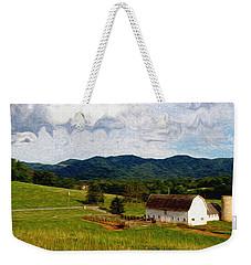 Weekender Tote Bag featuring the painting Impressionist Farming by John Haldane