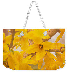 Impressionist Forsythia Weekender Tote Bag