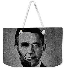 Impressionist Interpretation Of Lincoln Becoming Obama Weekender Tote Bag by Doc Braham