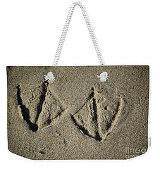 Weekender Tote Bag featuring the photograph Imprints by Christiane Hellner-OBrien