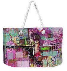 Weekender Tote Bag featuring the painting Impromptu by Michelle Abrams